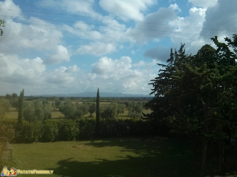 La vista dal nostro terrazzo