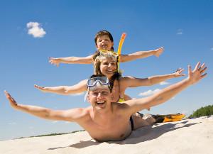 famiglia mare vacanza