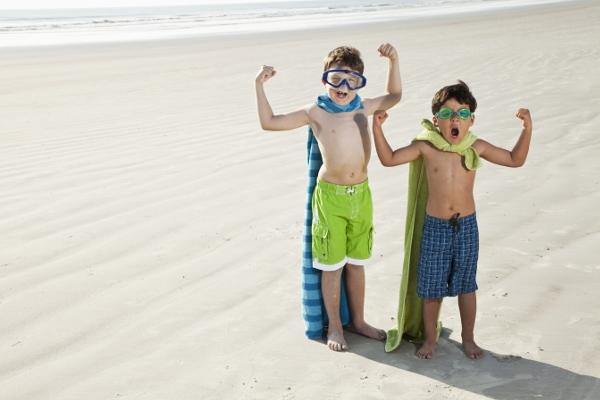 bambini contro sole