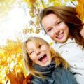 bambini autunno
