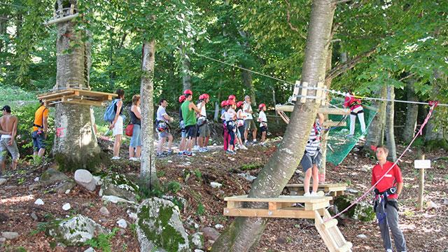 Parco avventura in Trentino