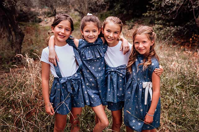 bambine vestiti jeans